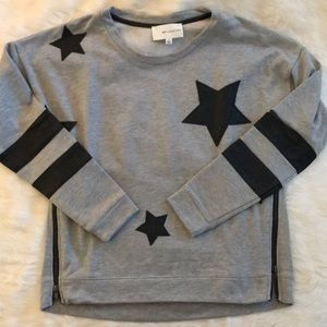 Nordstrom B.P. Collection pleather star pullover